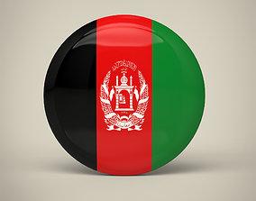 3D model Afghanistan Badge