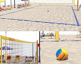Volleyball court ground 3D