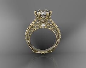 3D print model Diamond ring jewelry elegant