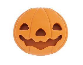 Flat pumpkin figurine 3D