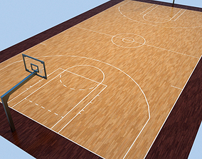 3D model Basketball Courts