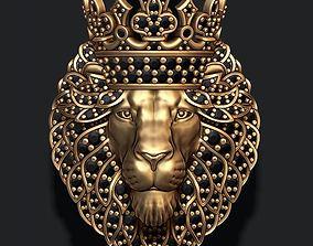 3D print model Leon pendant with diamonds and crown