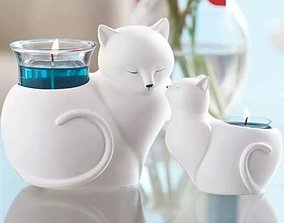 Cat 2 planter or candle 3d model stl for 3d
