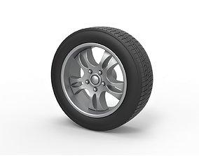 3D print model Diecast Car wheel 5 Scale 1 to