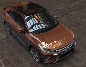 3D model mitsubishi eclipse cross brown car