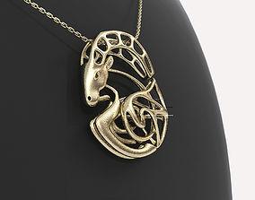 3D print model Capricorn Zodiac Pendant