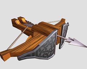 3D model Cartoon Arrow Cannon