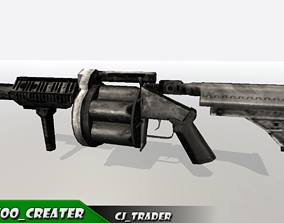 VR / AR ready M32 Gun - Grenade Launcher Low-poly 3D model