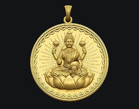 Laxmi Coin Pendant 3D printable model