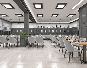 Luxury Restaurant and Bar Scene - Ready to Render 3D