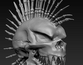 3D printable model Mohawk Skull
