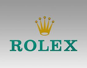 3D Rolex logo logotype