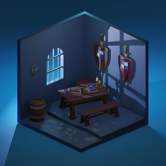 Little medieval room