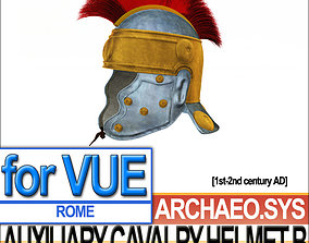 3D model Ancient Rome Auxiliary Cavalry Helmet B