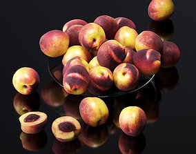 3D model Nectarine in a glass plate