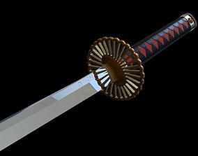 Edo period Katana Sword 3D