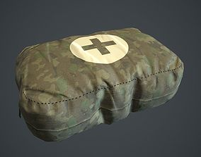 3D asset Camouflage First Aid Kit PBR Game