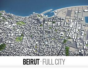 3D asset Beirut - city and surroundings