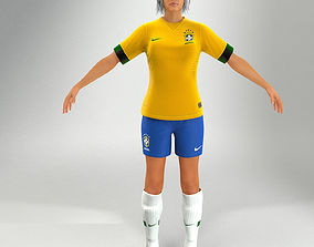 Soccer Lady Lite V2 Not Rigged 3D