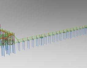 3D model Cable trestle