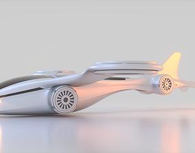3D model Futuristic Drone B 1