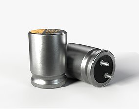 Capacitor with 2K PBR textures 3D asset
