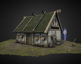 3D model Viking Hut