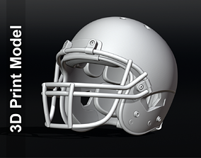 3D print model Contemporary Football Helmet