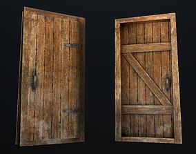 3D asset realtime Old Wooden Door
