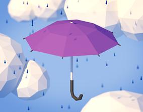 Low Poly Umbrella 3D model