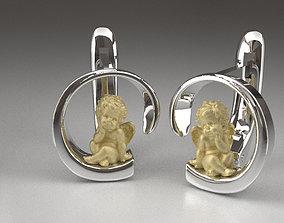 3D printable model Earrings angels