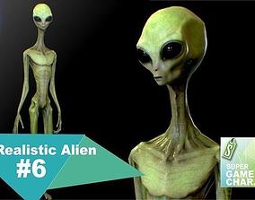 3D asset Realistic Alien 6