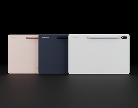 3D model Samsung Galaxy Tab S7 Plus In Official Colors