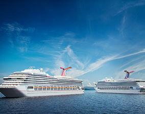 3D model cruise Cruise ship