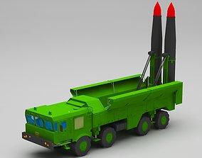 missile launcher truck 3D