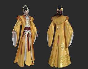The emperor of Ming Dynasty in ancient China 3D asset