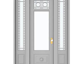 3D model Victorian Front Door