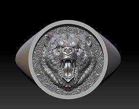 3D printable model Bear signet ring