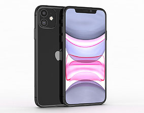 Apple iPhone 11 Black 3D model game-ready
