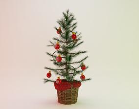 3D model VR / AR ready decoration Christmas Tree