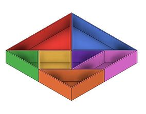 3D printable model Tangram Containers