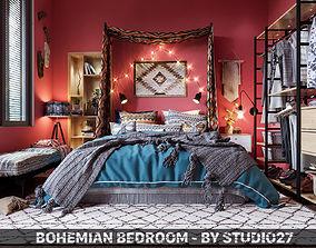 3D Bohemian Bedroom
