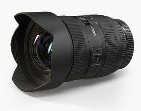 Sigma 12-24mm f 4-5 5-6 II DG HSM Canon AF Lens 3D asset