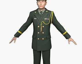 Chinese Army Officers Spring and Autumn Clothes 3D model