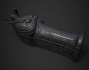 Anubis Sarcophagus statue 3D model