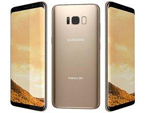 3D Samsung Galaxy S8 Plus Maple Gold