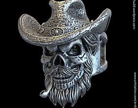 Skull gangster vol4 ring jewelry 3D printable model