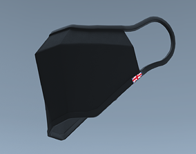 Face Mask 3D model low-poly