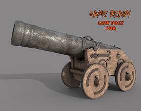 3D model realtime Medieval Cannon