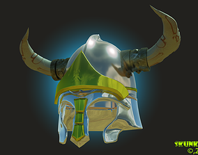 Horned Helm HighPoly 3D Printable
